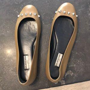 Balenciaga Studded Ballet Flats, Sz 36.5